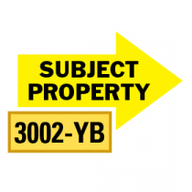 Solid Subject Property Arrows 1/2 Left-1/2 Right, Yellow/Black