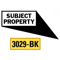 Subject Property Locator Pointing in 4 Directions, Black