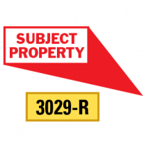 Subject Property Locator Pointing in 4 Directions, Red