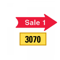 Solid Tiny Sale 1 Arrows 1/2 Left-1/2 Right, Red