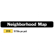 Neighborhood Map - Title Block