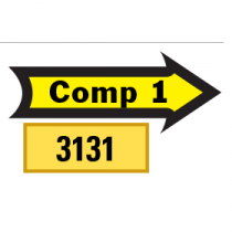 Outlined Comp 1 Arrows 1/2 Left-1/2 Right, Yellow/Black