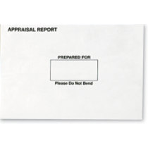 White Appraisal Report Mailing Envelopes, sold in sets of 25.