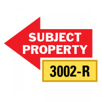 Solid Subject Property Arrows 1/2 Left-1/2 Right, Red