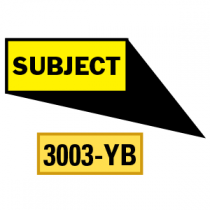 Subject Locator Pointing in 4 Directions, Yellow/Black