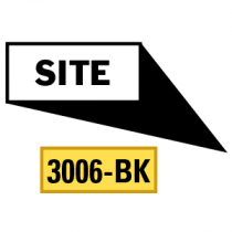 Site Locator Pointing in 4 Directions, Black
