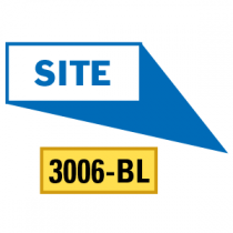 Site Locator Pointing in 4 Directions, Blue