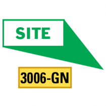 Site Locator Pointing in 4 Directions, Green