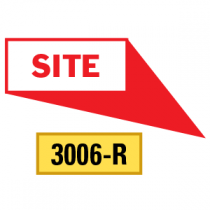 Site Locator Pointing in 4 Directions, Red