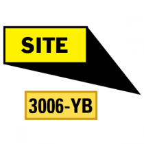 Site Locator Pointing in 4 Directions, Yellow/Black