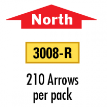 Solid North Arrows - North