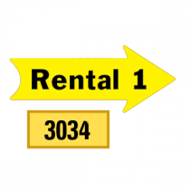 Solid Rental 1 Arrows 1/2 Left-1/2 Right