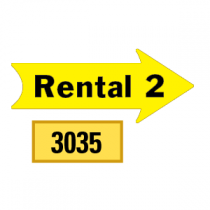 Solid Rental 2 Arrows 1/2 Left-1/2 Right
