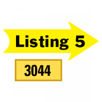 Solid Listing 5 Arrows 1/2 Left-1/2 Right