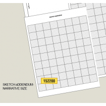Building Sketch-Grid Letter Size-pad of 100